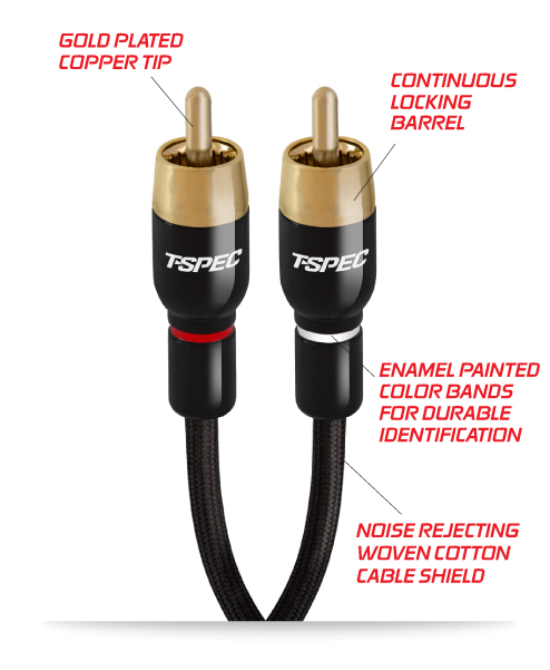 T-Spec RCA Audio Cables
